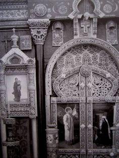 Vassily D. Polenov et Viktor M. Vasnetsov, Iconostase de l'église du Saint-Sauveur d'Abramtsevo, 1882