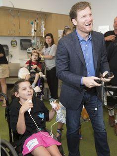 Dale Earnhardt Jr. inspired by visit to children's hospital