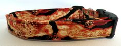 What's Cooking Good Looking Bacon on Black Dog Collar
