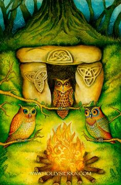 The Three Of Stones ~ from the Chrysalis Tarot by Holly Sierra