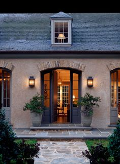 french country architecture exterior front entry