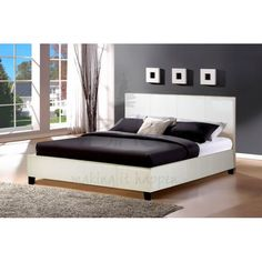 Beds Leather Bed Frames Birlea Berlin White