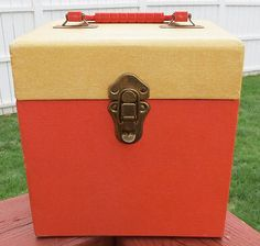 NICE Vintage 45 RPM Record Holder Carrying Case - Sturdy