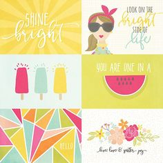Simple Stories - Sunshine and Happiness - 4x6 Journaling Cards