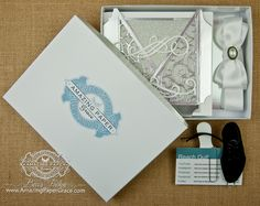 Elegant Gift Portfolio Kit by Becca Feeken using Wedding Collection Dies - www.amazingpapergrace.com