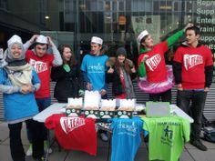 Students from Bath sell Krispy Kreme's at their university
