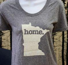 Minnesota Home. T-shirt- Womens Cut