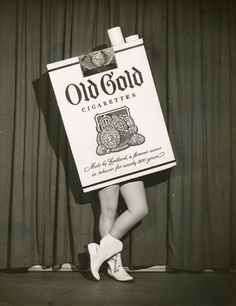 Old Gold dancing cigarette pack: television, 1950's. From the Library of American Broadcasting collection.
