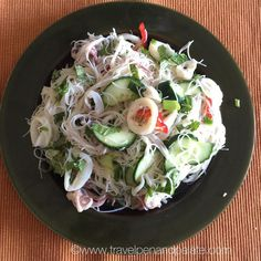 Hot muggy day in Saint Petersburg...otherwise known as an average #summer day... So I thought a cold #Asian rice noodle #calamari & herb #salad would be just the thing for #dinner - it was. #food #foodie