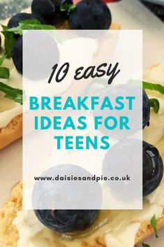 10 healthy breakfast ideas for teens. Quick and easy healthy breakfast ideas perfect for teenagers on schooldays. Start the day right! #healthybreakfast #breakfastideas #healthybreakfastrecipes #schooldaybreakfast