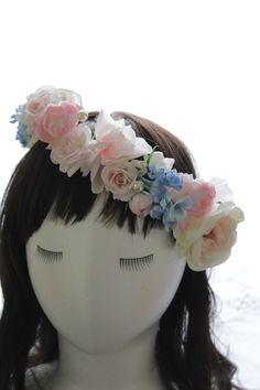 【花冠・ブートニア・リストブーケ3点セット】サムシングブルーMIXピンク