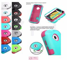 Hybrid TUFF Rubber Hard Soft Protective Case Cover For MOTOROLA MOTO E 2 2nd GEN #MYBAT