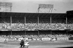 The Brooklyn Dodgers played at Ebbets field from April 1913 until they left Brooklyn in 1958.