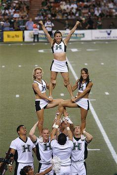University of hawaii cheerleading. Look at the muscle tone on these ladies? Get it girls! Cheerleading Stunts, College Cheerleading, Cheerleading Pictures, Football Cheerleaders, Cheer Pictures, Cheer Pics, Volleyball Pictures, Softball Pictures, Nike Internationalist