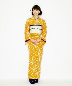 Rakuten - [2015 Furifu kimono Common] Iroha hemp: Furifu Yukata Kimono, Kimono Fabric, Japanese Outfits, Japanese Fashion, Cute Kimonos, Traditional Japanese Kimono, Summer Kimono, Kimono Fashion, Dress Codes