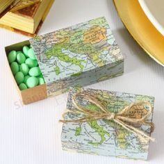 #candybox #partydecoration Around the World Map Favor Box BETER-TH031