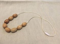 Hand-made wooden jewelry/Beaded necklace/ Nursing necklace for