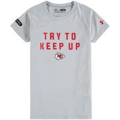 7846dd1a0e2 Kansas City Chiefs Under Armour Girls Try To Keep Up Tech T-Shirt - Gray -   27.99