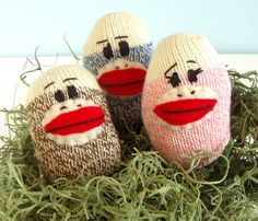 I LOVE sock monkeys, even if they are still in the egg!