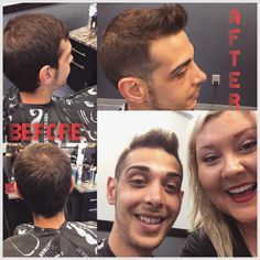Before and after, hair transformation, fade, men's styles, men's haircut