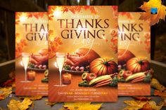 Check out Thanksgiving Day Flyer Template by Briell Design on Creative Market