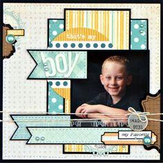 Scrapbook Layouts | 12X12 Layout | Scrapbooking Ideas | Creative Scrapbooker Magazine  #scrapbooking #12X12layouts #boys