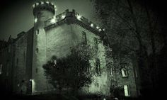 South and west side of Tulloch Castle, Scotland, in ghostly light.