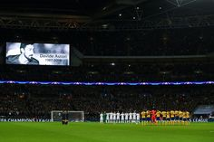 Tottenham Hotspur and Juventus players observe a minute of silence in memory of Fiorentina player Davide Astori prior to the the UEFA Champions League Round of 16 Second Leg match between Tottenham Hotspur and Juventus at Wembley Stadium on March 7, 2018 in London, United Kingdom. - 33 of 110