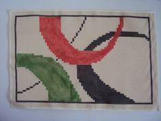 talagarça pintada à mão com ponto contado duplo indicada para qualquer ponto de tapeçaria R$ 37,00 Tapestry Crochet, Rug Hooking, Weaving, Cross Stitch, Rugs, Creative, Dollhouses, Table, Tire Table
