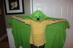 Minecraft Creeper Mob Fleece Plush Blanket by Reillysplushies, $22.00