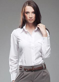 Chemise blanche femme chic manches longues K36 Nife  36 38 40 42 44 #Chemises