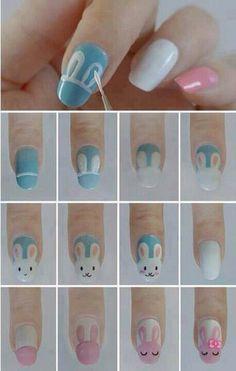 Shellac bunny nails tutorial