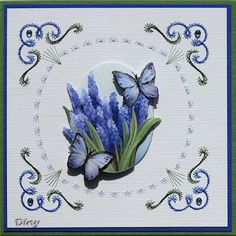 Embroidery Cards, Cross Stitch Embroidery, 3d Cards, String Art, Pattern, Contours, Cards, Embroidery, Flowers