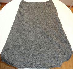 Covington Black Tweedy LONG Skirt Sz 14 Modest No Slit Lined EUC #Covington #ALine