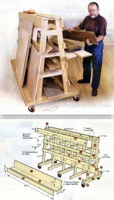 Lumber and Sheet Storage Rack Plans - Workshop Solutions Plans, Tips and Tricks | WoodArchivist.com