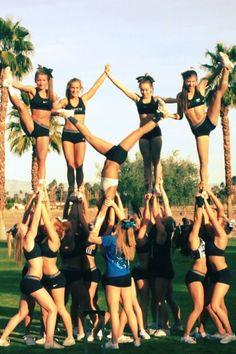 cheer end pyramid - Google Search