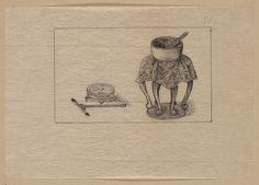 [Incense pot and burner] Sarah Kay, Library Of Congress, Incense, Bujo, Postcards, Japan, Drawings, Vintage, Art