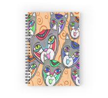 Catheads Rule with Orange Swirls Spiral Notebook Spiral Notebooks, Swirls, Custom Design, Stickers, Orange, Bespoke Design, Sticker, Decal, Decals