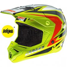 2014 One Industries Gamma Helmet MIPS Raven Chartreuse Black