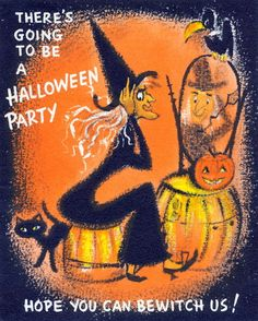 Vintage Hallmark Halloween Witch Primps for Party