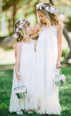 Girls Lace Maxi Dress Lace Flower Girl Dress by FlowerGirlsCouture