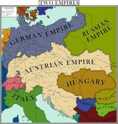 Fantasy Map Generator, Imaginary Maps, Austrian Empire, Alternate History, Fictional World, European History, Still Image, Countries, Europe
