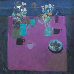 There are an unbelievable amount of beautiful paintings in our Sandy Murphy RSW RGI PAI exhibition. We have had a record numbers of visito. Glasgow School Of Art, Beautiful Flower Arrangements, Naive Art, Autumn Trees, Teaching Art, Beautiful Paintings, Painting & Drawing, Painting Tips, Traditional Art