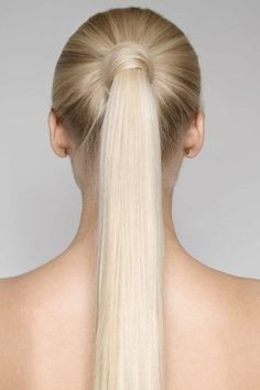 We asked colorist and balayage expert Hannah Edelman of on how best to wear chocolate mauve hair, a. Slick Hairstyles, Ponytail Hairstyles, Hairstyles Haircuts, Straight Hairstyles, Pale Blonde, Brunette To Blonde, Blonde Hair, Blonde Ponytail, Sleek Ponytail