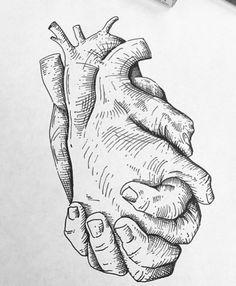 Art Sketches - Fushion News Pencil Art Drawings, Art Drawings Sketches, Tattoo Drawings, Couple Drawings, Medical Drawings, Medical Art, Arte Dna, Hand Kunst, Anatomy Art