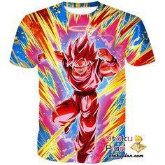 DBZ Victory-Sealing Super Attack Super Saiyan Goku (Angel) (Super Kaioken) T-Shirt - Dragon Ball Z 3D Shirts And Clothing