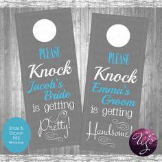 Wedding Door Hangers  Choose from Bride & by WhimsicalStationery, $9.00