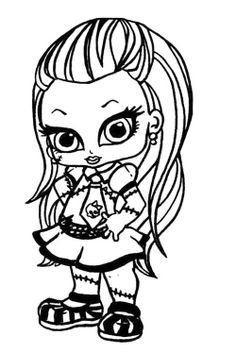 Baby Monster High Coloring Pages Monster High Deuce Gordon