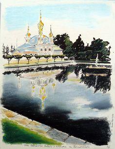 San Petersburgo. Palacio y jardines de Petrodvorets