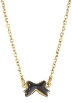 "Brandy Pham ""Gilded Collection"" Tiny Bow Black Necklace Brandy Pham. $85.39. Each piece is handmade and diligently hand painted in New York. Items that are handmade may vary in size, shape and color. 14k Gold Plated. Made in USA"